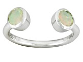 Multi Color Ethiopian Opal Sterling Silver Ring .45ctw.