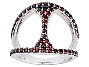 Red Garnet Sterling Silver Ring .78ctw