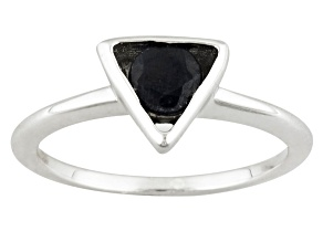 Blue Sapphire Sterling Silver Ring .51ct