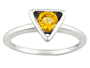 Yellow Citrine Sterling Silver Ring .40ct