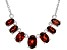 Red Garnet Sterling Silver Necklace. 2.73ctw
