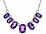 Purple Amethyst Sterling Silver Necklace. 2.08ctw