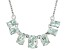 Blue Aquamarine Sterling Silver Necklace. 1.95ctw