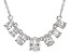 White Zircon Sterling Silver Necklace. 3.50ctw
