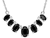 Black Spinel Sterling Silver Necklace 2.50ctw