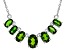 Green Chrome Diopside Sterling Silver Necklace 2.37ctw