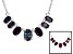 Lab Createdcolor Change Alexandrite Sterling Silver Necklace. 1.78ctw