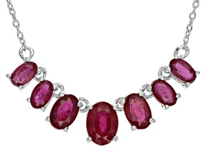 Mahaleo Ruby Sterling Silver Necklace 3.24ctw