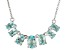 Sky Blue Topaz Sterling Silver Necklace. 2.72ctw