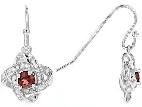 Red Garnet Sterling Silver Earrings. .79ctw