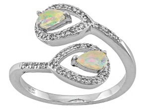 Ethiopian Opal Sterling Silver Ring. .40ctw