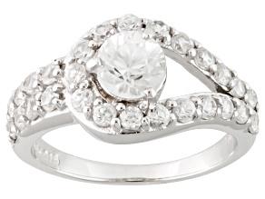 White Zircon Sterling Silver Ring. 2.35ctw