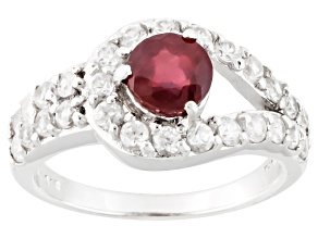 Mahaleo Ruby Sterling Silver Ring. 2.45ctw