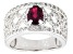 Mahaleo Ruby Sterling Silver Ring. 1.63ctw