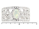 Ethiopian Opal Sterling Silver Ring. .99ctw