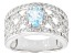 Sky Blue Topaz Sterling Silver Ring. 1.40ctw