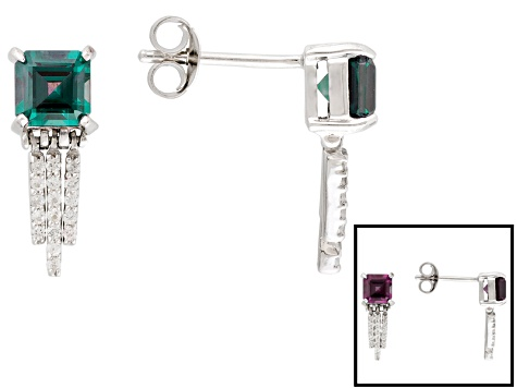 881d573eb Lab Created Color Change Alexandrite Sterling Silver Earrings 1.56ctw -  WOS415 | JTV.com