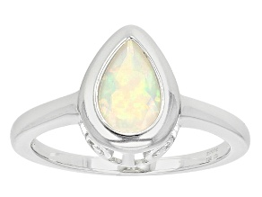 Ethiopian Opal Sterling Silver Ring. .77ct