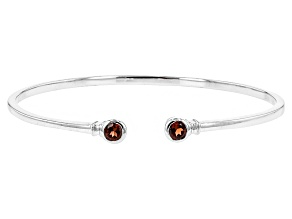 Red Garnet Sterling Silver Bracelet. 1.26ctw