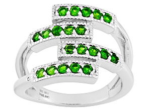 Green Chrome Diopside Sterling Silver Band Ring .69ctw