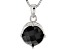 Black Spinel Sterling Silver Pendant With Chain 1.27ct