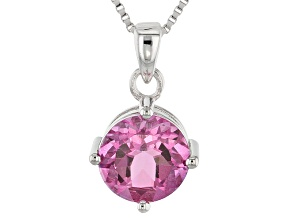 Pink Topaz Sterling Silver Solitaire Pendant With Chain 2.35ct