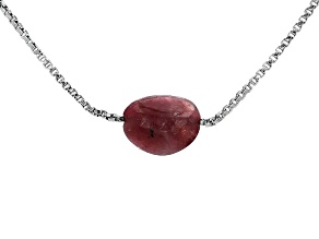 Pink Tourmaline Sterling Silver Necklace .98ct