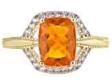 Orange Mexican Fire Opal 14k Yellow Gold Ring 1.21ctw
