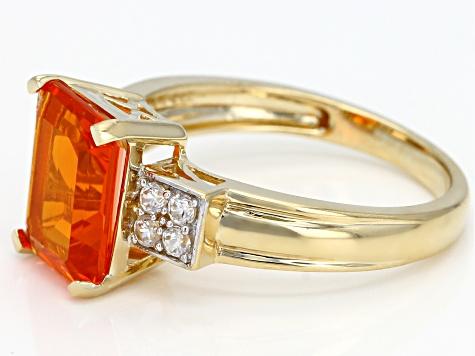 2.9 CT extrêmement rare rouge mexicaine fire opal Collier Pendentif 14K Or Jaune