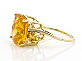 Orange Mexican Fire Opal 14k Yellow Gold Ring 5.07ctw