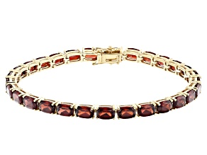 Red Garnet 14k Yellow Gold Tennis Bracelet 16.76ctw
