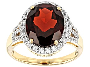Red Garnet 14k Yellow Gold Ring 4.83ctw