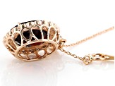 Red Garnet 14k Rose Gold Pendant With Chain 4.99ctw