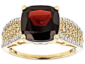 Red Garnet 14k Yellow Gold Ring 4.50ctw