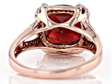 Red garnet 14k rose gold ring 4.51ctw