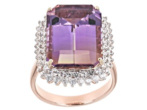 Bi-Color Ametrine 14k Rose Gold Ring 11.18ctw