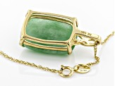 Green Jadeite 14k Pendant With Chain
