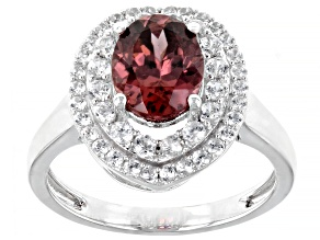 Blush Zircon Rhodium Over 14k White Gold Ring 3.68ctw
