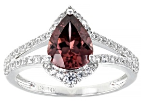 Blush Zircon Rhodium Over 14k White Gold Ring 2.93ctw