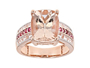 Pink Morganite 14k Rose Gold Ring 4.75ctw