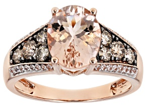 Pink Morganite 14k Rose Gold Ring 2.85ctw