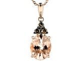 Pink Cor-De-Rosa Morganite™ 14k Rose Gold Pendant With Chain 2.26ctw