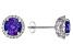 Blue Tanzanite Rhodium Over 18k White Gold Stud Earrings 2.49ctw