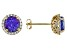 Blue Tanzanite 18k Yellow Gold Stud Earrings 2.49ctw