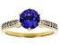 Blue Tanzanite 18k Yellow Gold Ring 1.24ctw