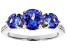 Blue Tanzanite Rhodium Over 18k White Gold Ring 2.16ctw