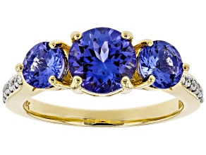Blue Tanzanite 18k Yellow Gold Ring 2.16ctw