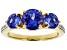 Blue Tanzanite 18k Yellow Gold Ring 2.16ctw