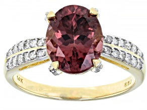 Blush Zircon 14K Yellow Gold Ring 3.27ctw