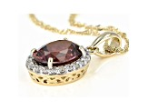Pink Blush Zircon 14k Yellow Gold Pendant With Chain 3.29ctw